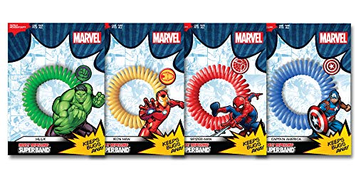 Superband Marvel Avenger Insect Repelling Wristbands with Awesome Superhero Charms! (20) - Insect Repelling Wristband