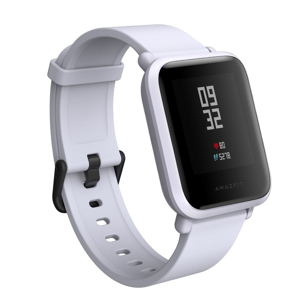 Amazfit Bip Smartwatch by Huami with All-day Heart Rate and Activity Tracking, Sleep Monitoring, GPS, Ultra-Long Battery Life, Bluetooth, US Service and Warranty (A1608 Light Gray)