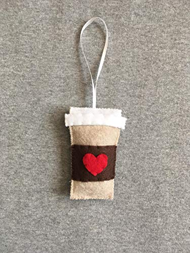 Coffee To Go Ornament in Felt with a -