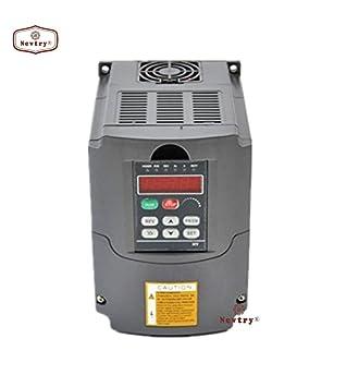 NEWTRY - Inversor de frecuencia Variable VFD 1,5 KW 220 V AC: Amazon.es: Electrónica
