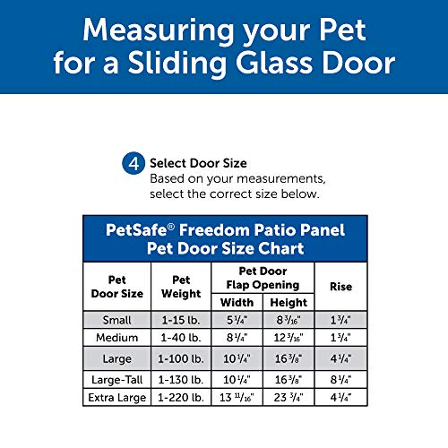PetSafe Freedom Aluminum Patio Panel Sliding Glass Dog and Cat Door, Adjustable 91 7/16'' to 96-Inch, White, Large-Tall by PetSafe (Image #3)