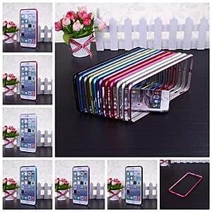 Fashionable Metal Bumper Frame Case for iPhone 6 Plus Back Cases ,Color: Royal Blue