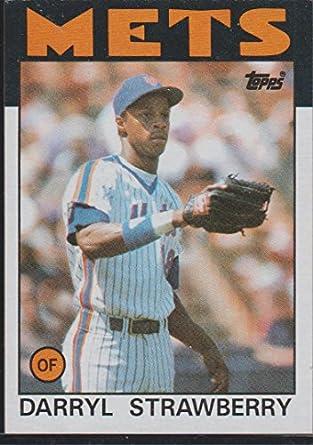 1986 Topps Darryl Strawberry Mets Baseball Card 80 At