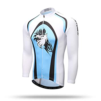 Pinjeer Cool Bird Pattern Printing Men s Breathable Cycling Long Sleeve Jersey  Clothing Quick Dry Outdoor Sportswear ef7f2d9c0