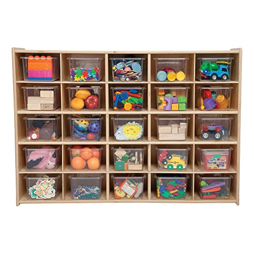 Sprogs 25-Tray Wooden Storage Unit - Unassembled with Clear Trays, SPG-71141 (25 Tray Storage)