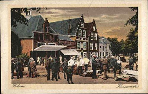 Cheese Market Edam, Netherlands Original Vintage Postcard