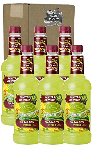 Master of Mixes Margarita Drink Mix, Ready To Use, 1 Liter Bottle (33.8 Fl Oz), Pack of 6