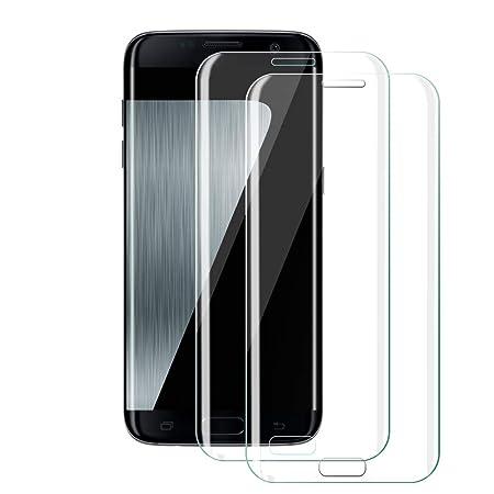 Galaxy S7 Edge Panzerglas Schutzfolie[2 Stück], Etmury Panzerglasfolie Galaxy S7 Edge Schutzfolie Hartglas [Blasenfreie] [Ant