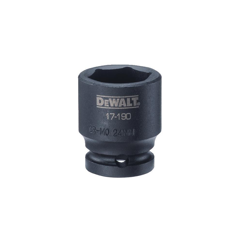 DEWALT 1/2'' Drive Impact Socket 6PT 24MM