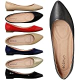 #10: SOBEYO Women Ballet Flats Pointed Toe Slip On Closed Toe Shoes