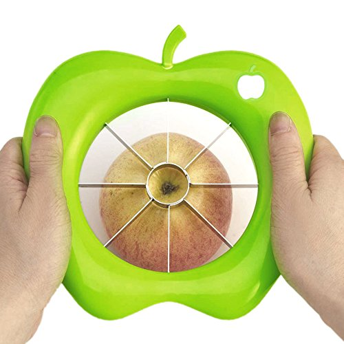 Multi-functional Apple Cutter Corer Slicer Stainless Steel Easy Cut Knife for Fruit Kitchen ()