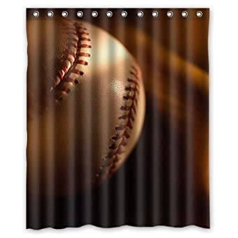 Image Unavailable Not Available For Color Baseball Shower Curtain