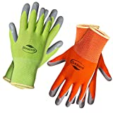Gardening Gloves for Women Small Size. (2 pairs per package) Super Grippy Garden Gloves from Breathable Nylon coated with puncture-resistant nitrile