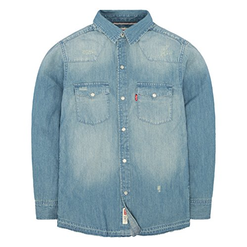 Arizona Boys Jean (Levi's Big Boys' Denim Western Shirt, Memphis, M)