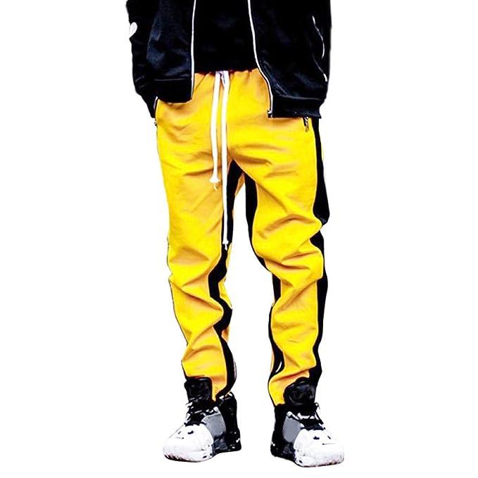 Bestow-pantalones de Entrenamiento a Rayas para Hombre Pantalón de Trabajo  Deportivo Pantalón Informal  Amazon.es  Ropa y accesorios c0508c3aa7ae