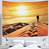 ALAZA Landscape Nature Tropical African Desert Sunset Clouds Tapestry Wall Hanging Decor Light-weight Polyester Fabric Cottage Dorm Wall Art Home Decoration 80x60 Inches