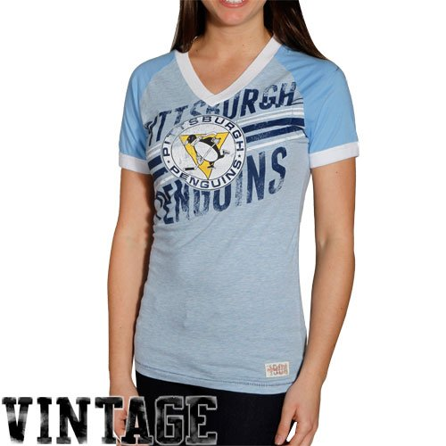 Mitchell & Ness Pittsburgh Penguins NHL Women's Vintage Championship V-Neck T-Shirt