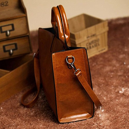 Huhu833 Bag Modern Stylish Leather Shoulder Crossbody Woman Messenger Brown Bag ZnE7C