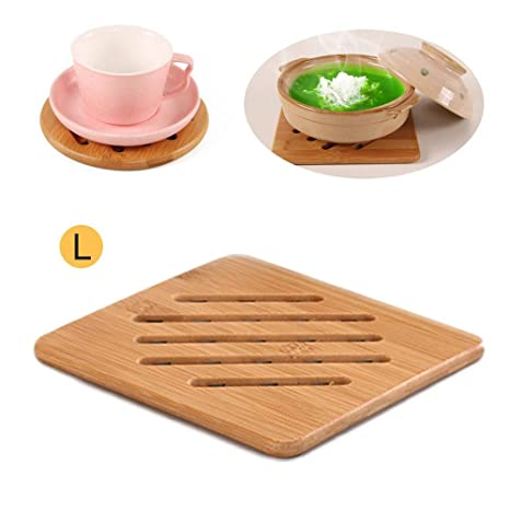 Kitchen Hot Cup Plate Bowl Bamboo Heat Resistant Pad Mat Kitchen Décor