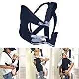 Buorsa Breathable Flip Baby Carrier Backpack with Removable Cushion,Infant Carrier,0-16 Months,Navy