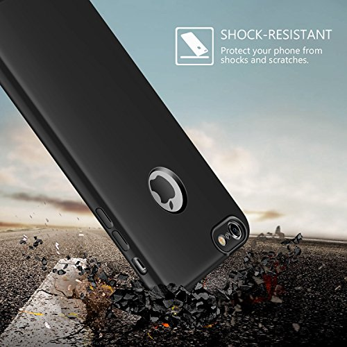 iPhone 6s plus Hülle, iPhone 6 plus schutzhülle, Leathlux iPhone 6s plus Silikon Case 2 in 1 Hybrid Dual-Layer Schutzrahmen Anti-Scratch Schutzhülle Bumper Stoßfest Handyhuelle für Apple iPhone 6 plus