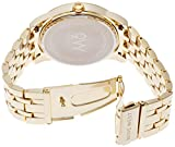 Nine West Womens NW/1578CHGB Champagne Dial Gold-Tone Bracelet Watch