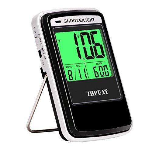 ALARPRO Travel Alarm Clock Battery Operated with Light Sensor, Small...