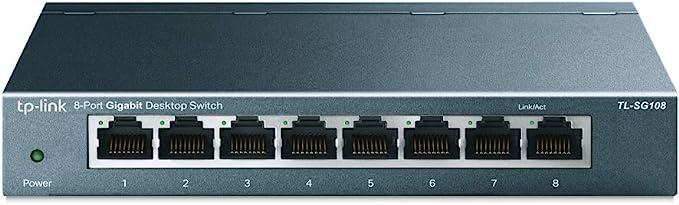 Tp Link Tl Sg108 V3 8 Ports Gigabit Netzwerk Switch Computer Zubehör