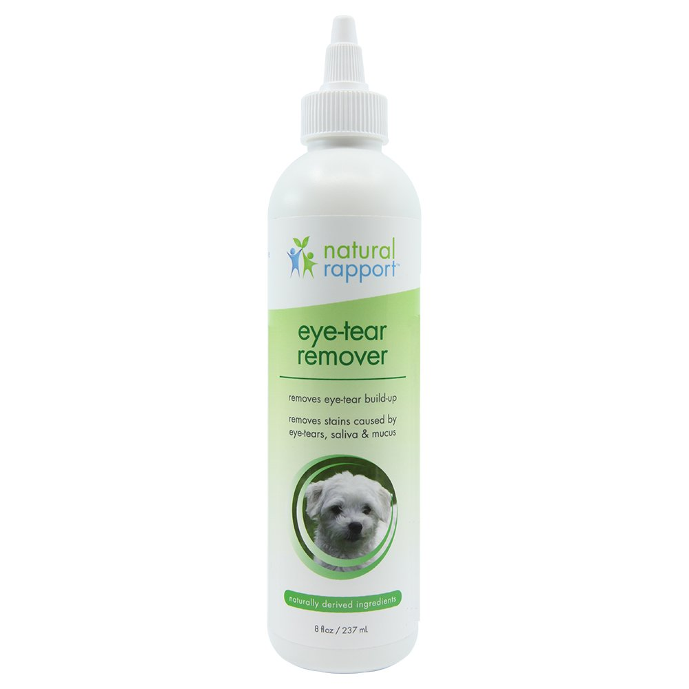 Natural Rapport Tear Stain Remover for Cats & Dogs-Pet Tear Stain Remover for Pet Eye Care (Liquid Formula) Eye-Tear Remover