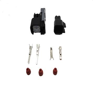EV6 10 set Fuel Injector Plug car Waterproof 2 Pin way Electrical Wire Connector Plug automobile Connectors