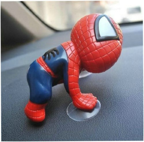 ElementDigital Cute Super Hero Spider-man Doll Toy with Suction Cups Car Accessories Auto part (1 PCS)