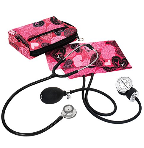 Clincial Lite Combination Kit, Ribbon&Heart Pink (Ribbon Pink Stethoscope)