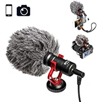 Video Microphone Youtube Vlogging Facebook Livestream Recording Shotgun Mic for iPhone HuaWei Smartphone DJI Osmo Mobile 2,for ZHIYUN Smooth Q Smooth 4 Feiyu Vimble Canon Sony DSLR Cameras