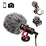 Video Microphone Youtube Vlogging Facebook Livestream Recording Shotgun Mic for iPhone HuaWei Smartphone DJI Osmo Mobile 2,for ZHIYUN Smooth Q Smooth 4 Feiyu Vimble Canon Sony DSLR Cameras
