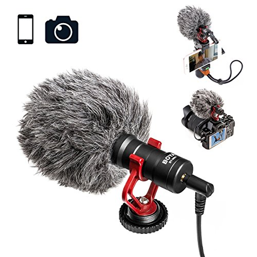 Video Microphone Youtube Vlogging Facebook Livestream Recording Shotgun Mic for iPhone HuaWei Smartphone DJI Osmo Mobile 2,for ZHIYUN Smooth Q Smooth 4 Feiyu Vimble Canon Sony DSLR Cameras by Nicad