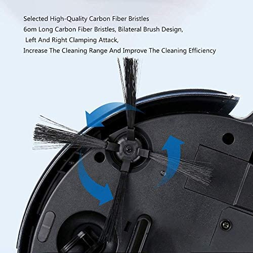 DHTOMC Vide Intelligent Balayage Robot, Aspirateur Robot, Grande Aspiration Bouche, Forte Aspiration, Silencieux, Anti-adhérence, et Un Seul Bouton, adapté à Tout étage Xping