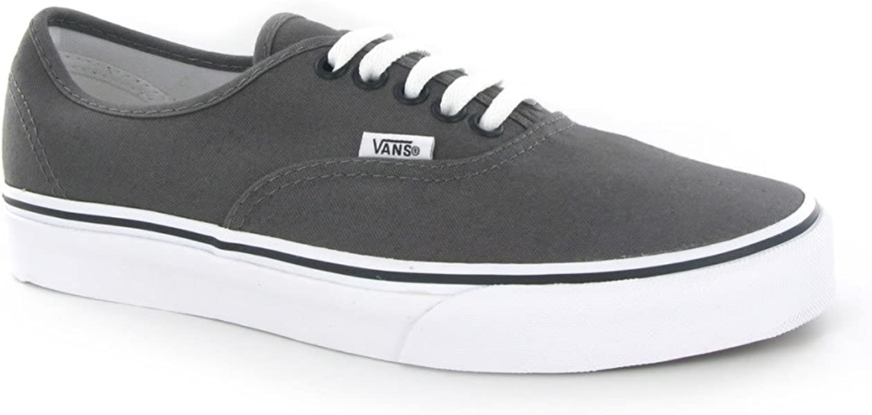 79c07b087177f4 Vans Authentic Grey Canvas Mens Trainers Size 10 US ...
