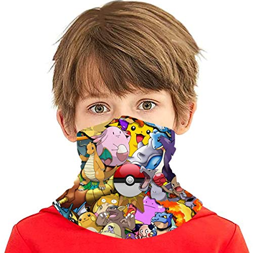 Pok-Em-On Boys Bandanas for Dust Girls Neck Gaiter