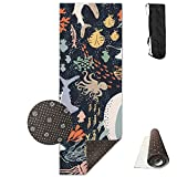 Marine Life Yoga Mat - Advanced Yoga Mat - Non-Slip Lining - Easy To Clean - Latex-Free - Lightweight And Durable - Long 180 Width 61cm
