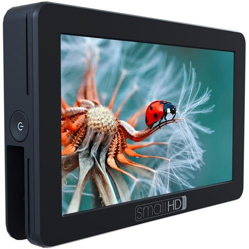 SmallHD FOCUS 5'' On-Camera Touch Daylight Visible Monitor Kit with LP-E6 Faux Battery Adapter to Canon Cameras by SmallHD