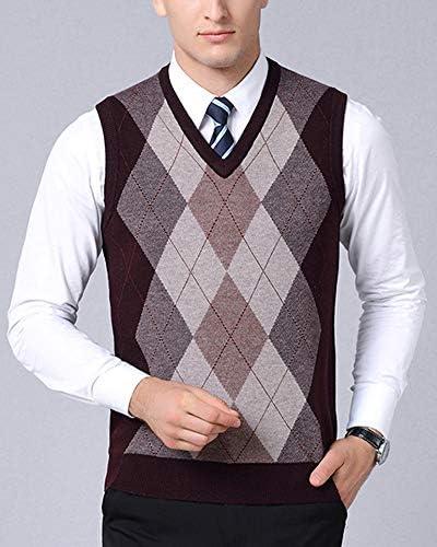 Stallion Uomo Lavorazione a Maglia Pullover Scollo a girocollo Sweater Felpa Pullover