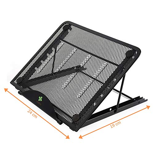 Ventilated Adjustable Stand for Small Laptop/LED Light Pad - Tracing Board/Tablet - iPad Great for Diamond Painting/Tracing/Sketching ()