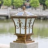 YZL/ Pillar lamp/solar energy solar power outdoor garden light/post lights/wall lights/wall lights/lamp/gate home outdoor pillar lamp , bronze