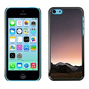 Design for Girls Plastic Cover Case FOR iPhone 5Cs Landscape Horizon Mountains View Sunrise OBBA