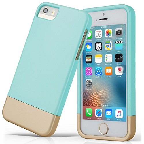 iPhone 5S case, iPhone SE Case , Asstar Slider Case 2-Part two colors Polycarbonate Combination Designed Protective Hard Cover for the Apple iPhone 5 / 5S / SE (MINT)