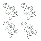 HOHIYA Christmas Wedding Ornament Hooks Hangers 2inch (Silver,pack of 36)