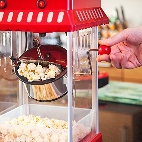 Vitinni Retro Popcorn Maker with 6 Serving Boxes