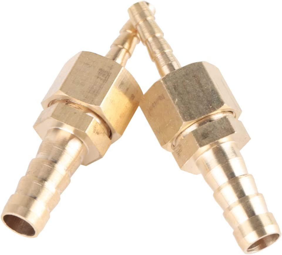 2pcs 4-8mm Brass Fitting Hose Barb Tail Reducer Reducing Plug Connector Barb Connector Cuivre Reducing Plug Connector Embedded Nuts Multitools