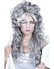 Boland 86044 pruik voor volwassenen, Ice Queen, grijs, één maat