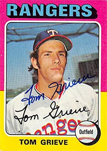 Tom Grieve autographed Baseball Card (Texas Rangers, SC) 1975 Topps #234 - Baseball Slabbed Autographed Cards